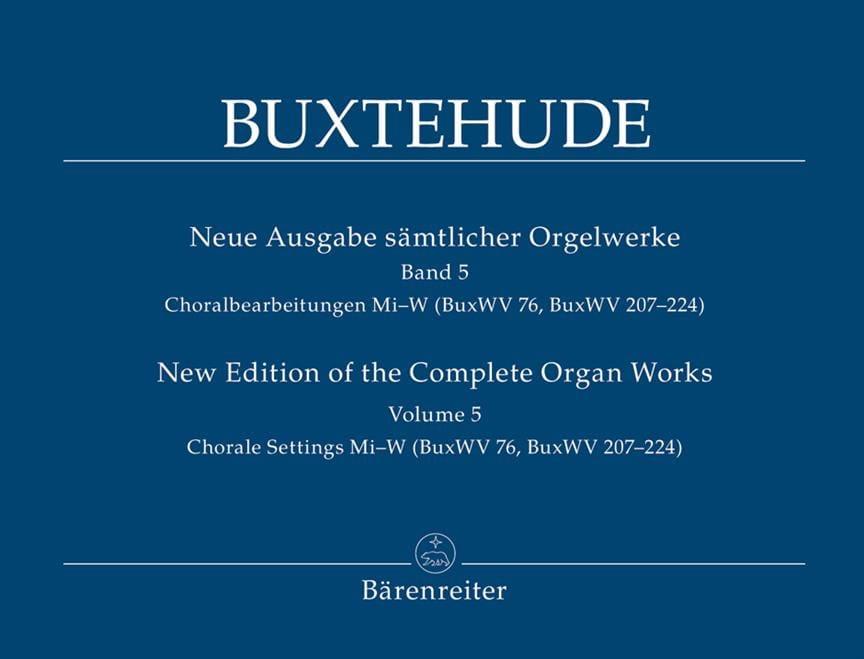 L'œuvre d'orgue, Volume 5 - BUXTEHUDE - Partition - laflutedepan.com