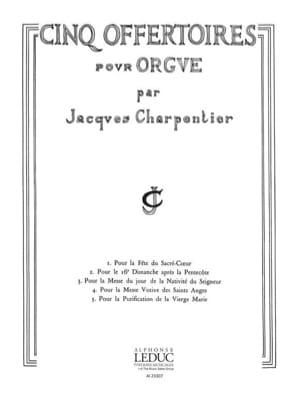 5 Offertoires pour Orgue CHARPENTIER Partition Orgue - laflutedepan