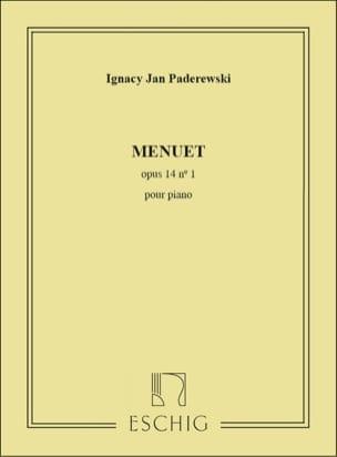 Menuet Opus 14-1 Ignacy Paderewski Partition Piano - laflutedepan