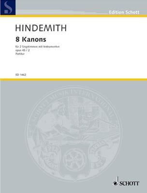 8 Canons, Opus 45-2 HINDEMITH Partition Chœur - laflutedepan