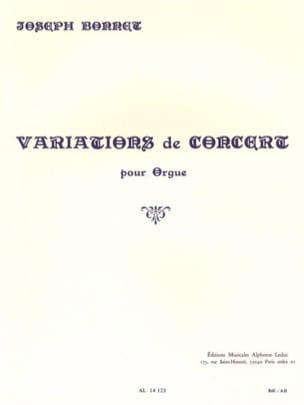 Variations de Concert Opus 1 Joseph Bonnet Partition laflutedepan