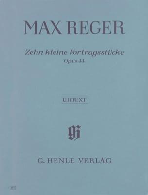 10 Kleine Vortragsstücke Op. 44 Max Reger Partition laflutedepan