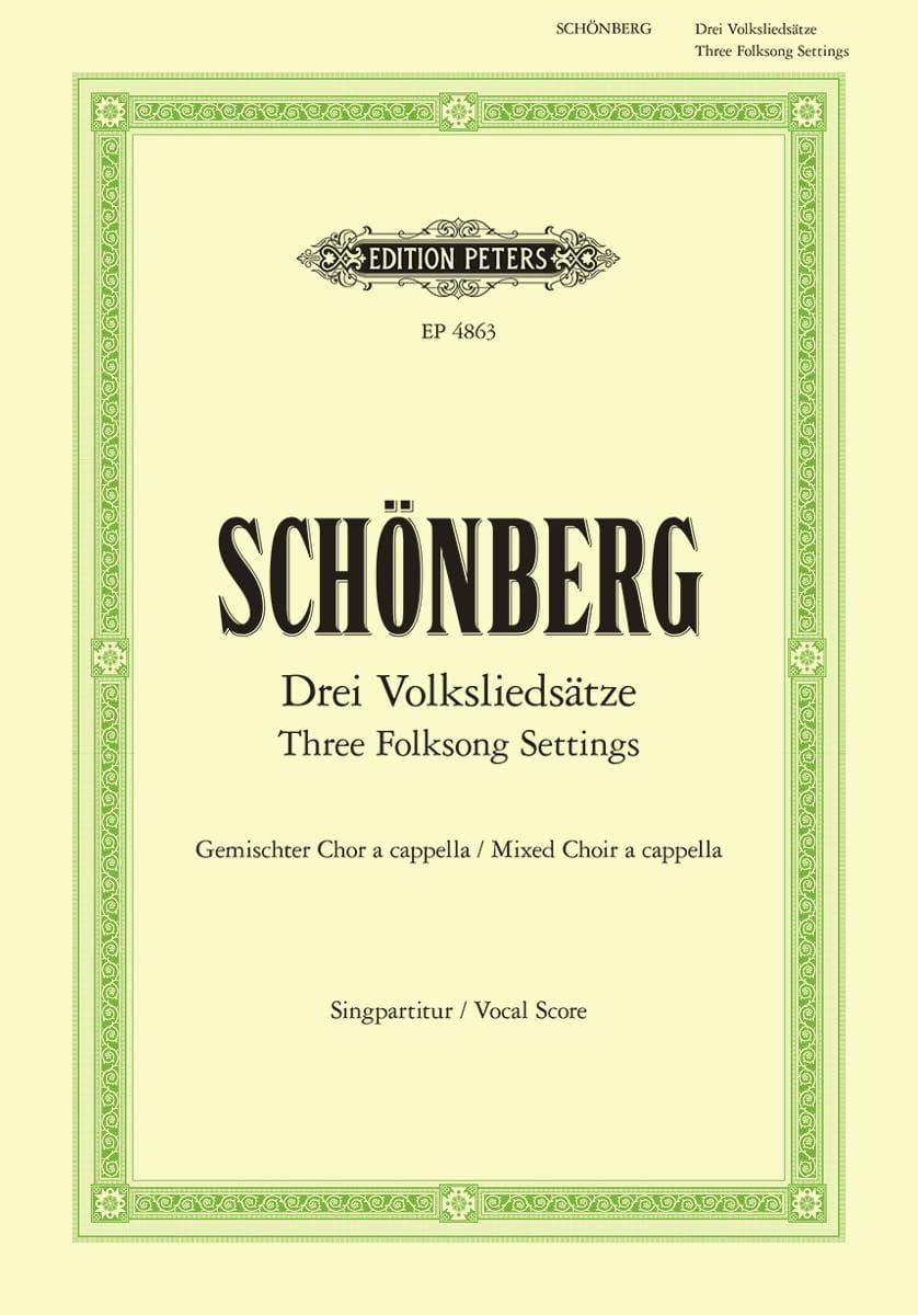 3 Volksliedsätze - SCHOENBERG - Partition - Chœur - laflutedepan.com