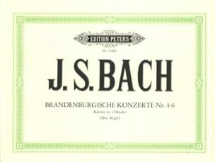 Concertos Brandebourgeois 4-6. 4 Mains BACH Partition laflutedepan