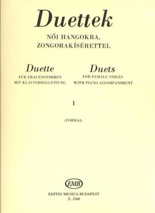 Duos Pour Voix de Femmes Volume 1 Partition Duos - laflutedepan