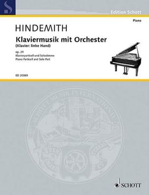 Klaviermusik avec orchestre op. 29 HINDEMITH Partition laflutedepan