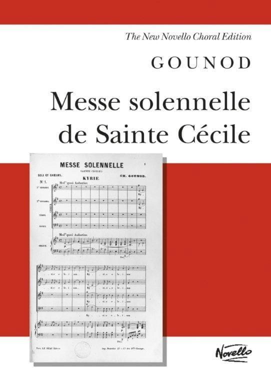 Messe Solennelle Sainte Cécile - GOUNOD - Partition - laflutedepan.com