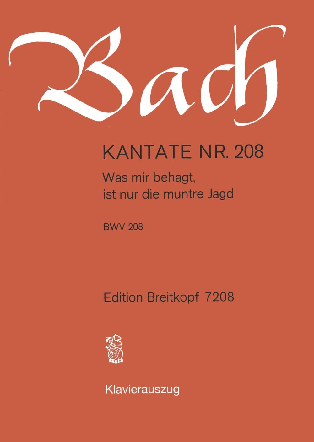 Cantate 208 Was Mir Behagt, Ist Nur Die Muntre Jagd - laflutedepan.com