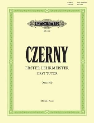Le Premier Maître opus 599 CZERNY Partition Piano - laflutedepan