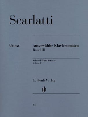 Sonates choisies pour clavier. Volume 3 SCARLATTI laflutedepan