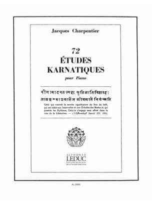 72 Etudes Karnatiques 2° Cycle CHARPENTIER Partition laflutedepan