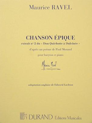 Chanson Epique RAVEL Partition Mélodies - laflutedepan