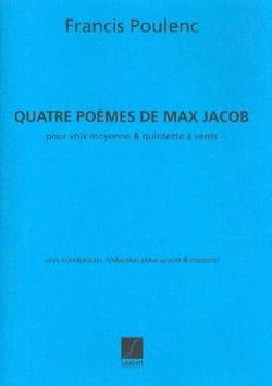 4 Poèmes de Max Jacob POULENC Partition laflutedepan