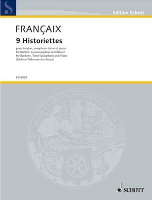 9 Historiettes FRANÇAIX Partition Saxophone - laflutedepan