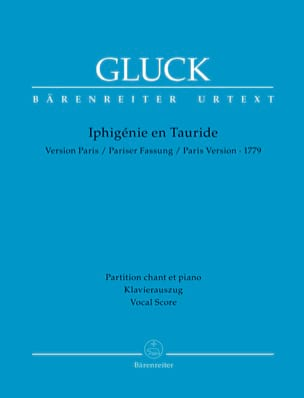 Iphigénie en Tauride. GLUCK Partition Opéras - laflutedepan