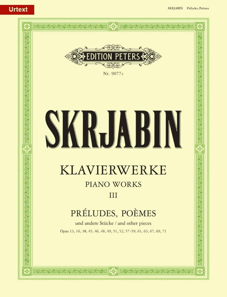 Klavierwerke Volume 3 - SCRIABINE - Partition - laflutedepan.com