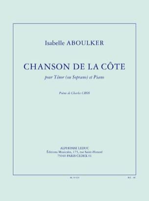 Chanson de la Côte Isabelle Aboulker Partition Mélodies - laflutedepan