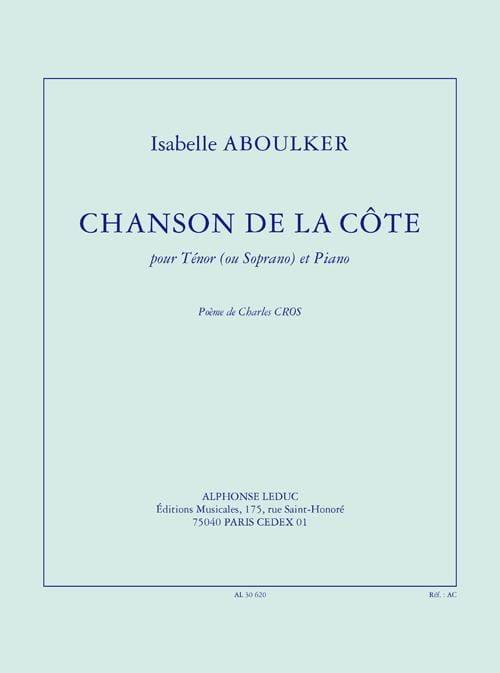 Chanson de la Côte - Isabelle Aboulker - Partition - laflutedepan.com