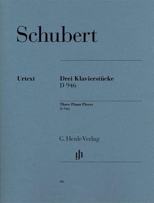 3 Klavierstücke D 946 Aus Dem Nachlass - SCHUBERT - laflutedepan.com