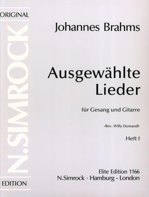 Ausgewählte Lieder Volume 1 BRAHMS Partition Guitare - laflutedepan