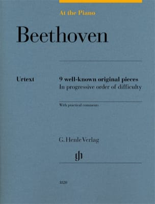 Beethoven, At The Piano BEETHOVEN Partition Piano - laflutedepan