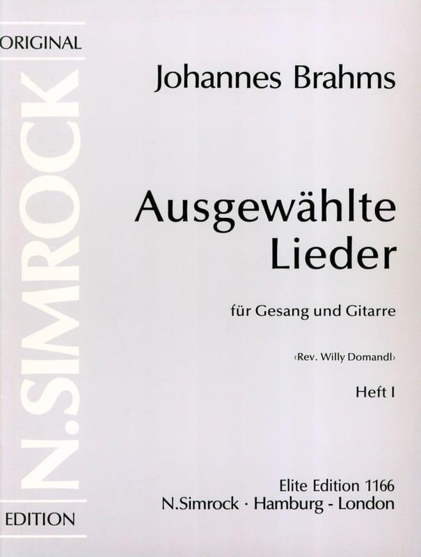 Ausgewählte Lieder Volume 1 - BRAHMS - Partition - laflutedepan.com