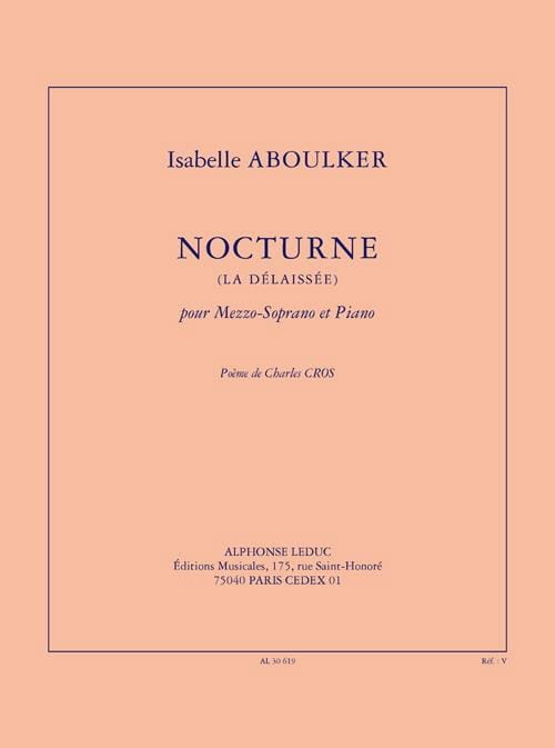 Nocturne La Délaissée - Isabelle Aboulker - laflutedepan.com