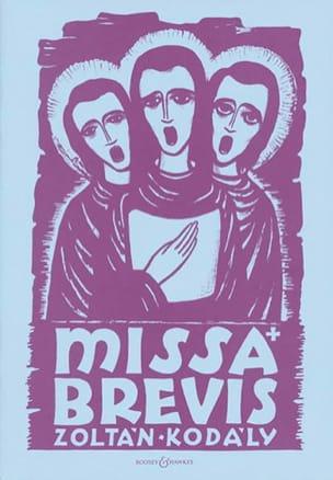 Missa Brevis KODALY Partition Chœur - laflutedepan
