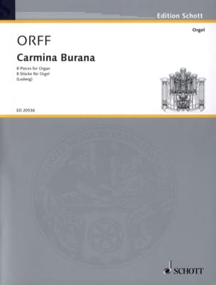 Carmina Burana. Orgue ORFF Partition Orgue - laflutedepan