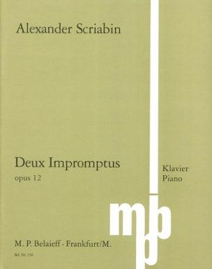 2 Impromptus Op. 12 SCRIABINE Partition Piano - laflutedepan