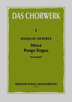Missa Pange lingua Josquin Desprez Partition Chœur - laflutedepan