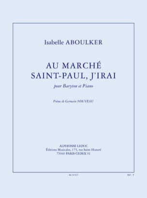 Au Marché Saint-Paul, J'irai Isabelle Aboulker Partition laflutedepan