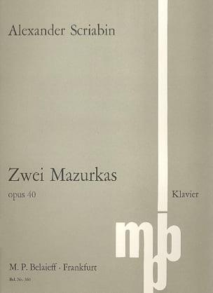 2 Mazurkas Op. 40 - SCRIABINE - Partition - Piano - laflutedepan.com