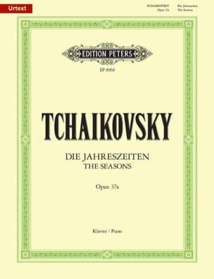 Les Saisons Opus 37a TCHAIKOVSKY Partition Piano - laflutedepan