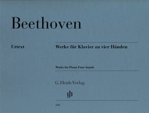 BEETHOVEN - Works for piano with 4 hands - Partition - di-arezzo.co.uk
