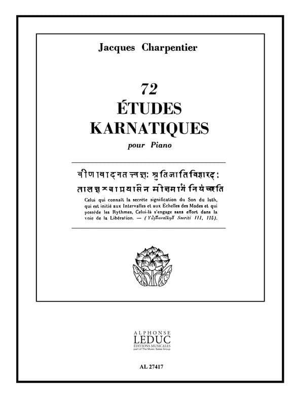 72 Etudes Karnatiques. 9° Cycle - CHARPENTIER - laflutedepan.com