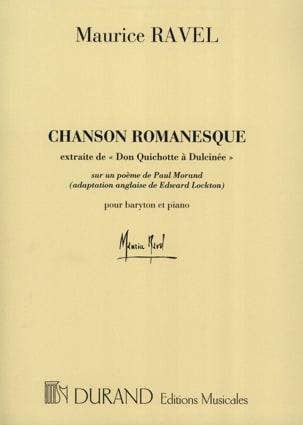 Chanson Romanesque RAVEL Partition Mélodies - laflutedepan
