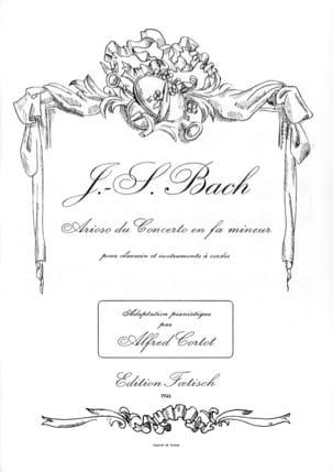 Arioso Du Concerto En Fa Mineur BWV 1056 BACH Partition laflutedepan