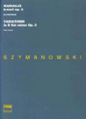 12 Variations Si Bémol Mineur Opus 3 - SZYMANOWSKI - laflutedepan.com