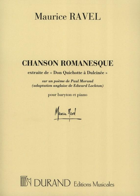 Chanson Romanesque - RAVEL - Partition - Mélodies - laflutedepan.com