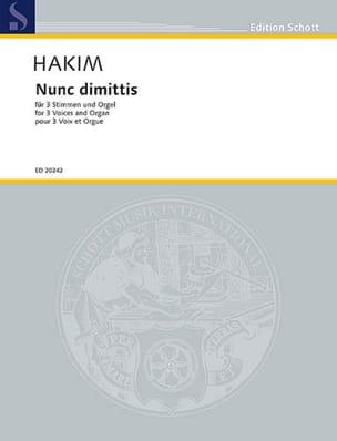 Nunc Dimitis Naji Hakim Partition Chœur - laflutedepan