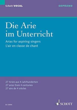 Die Arie Im Unterricht. Soprano Partition Recueils - laflutedepan