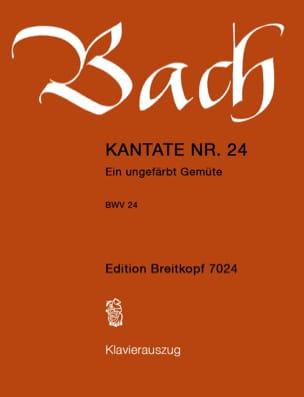 Cantate 24 Ein Ungefärbt Gemüte Johann Sebastian Bach laflutedepan