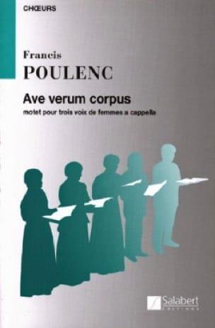 Ave Verum Corpus - POULENC - Partition - Chœur - laflutedepan.com