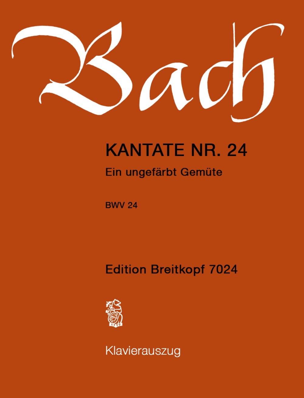 Cantate 24 Ein Ungefärbt Gemüte - laflutedepan.com