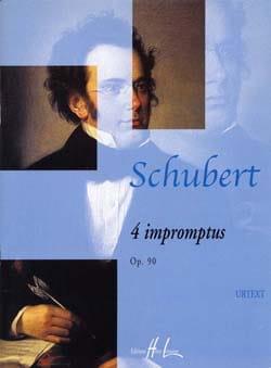 4 Impromptus Opus 90 SCHUBERT Partition Piano - laflutedepan
