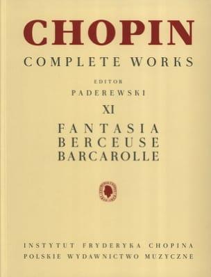 Fantaisie Opus 49, Berceuse Opus 57, Barcarolle Opus 60 laflutedepan