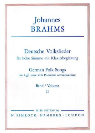 Deutsche Volkslieder Volume 2 Voix Haute - BRAHMS - laflutedepan.com