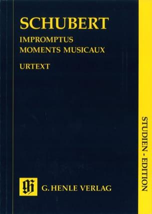 Impromptus / Moments Musicaux. SCHUBERT Partition laflutedepan