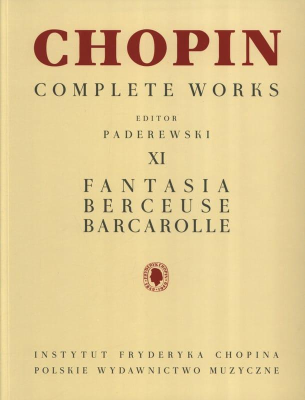 Fantaisie Opus 49, Berceuse Opus 57, Barcarolle Opus 60 - laflutedepan.com